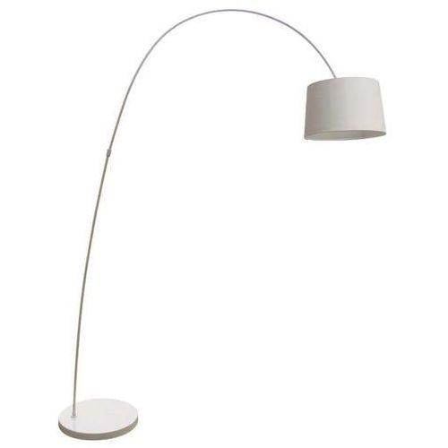 Stojąca lampa podłogowa costanza ts-070720f-wh abażurowa oprawa salonowa biała marki Zumaline