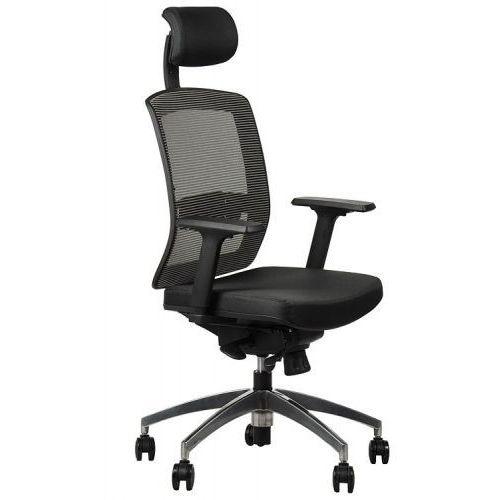 Fotel obrotowy biurowy z podstawą aluminiową i wysuwem siedziska model gn-301/szary krzesło biurowe obrotowe marki Stema - gn