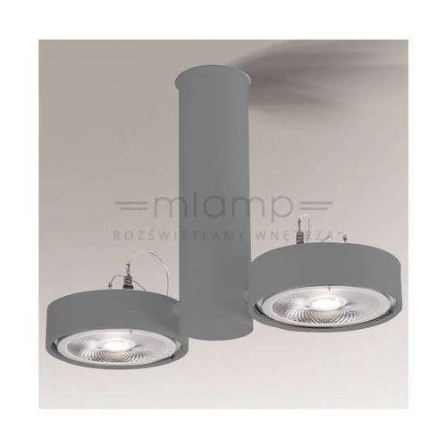 Plafon LAMPA sufitowa NATORI 2261/G53/SZ Shilo reflektorowa OPRAWA natynkowa TUBA metalowa szara