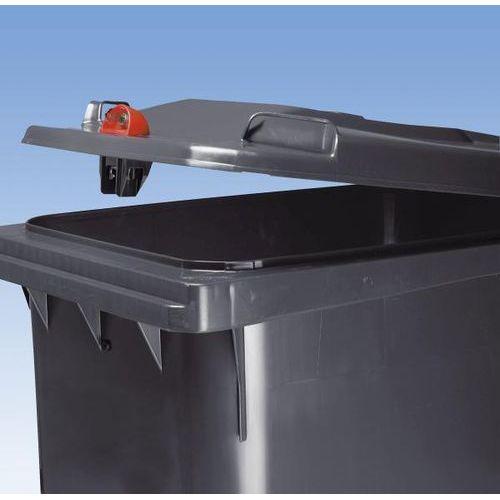 Duży pojemnik na odpady z tworzywa z mocnym zamkiem, poj. 80 l, wys. x szer. x g marki Schaefer group