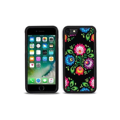 Etuo aluminum fantastic Apple iphone 7 - etui na telefon aluminum fantastic - czarna łowicka wycinanka