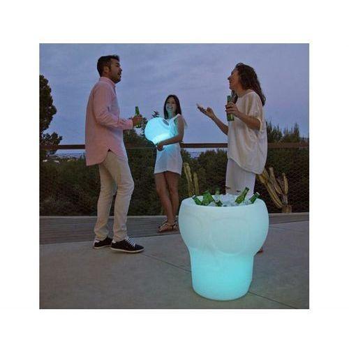 New garden stolik melvin solar biały - led, sterowanie pilotem (5900000046907)