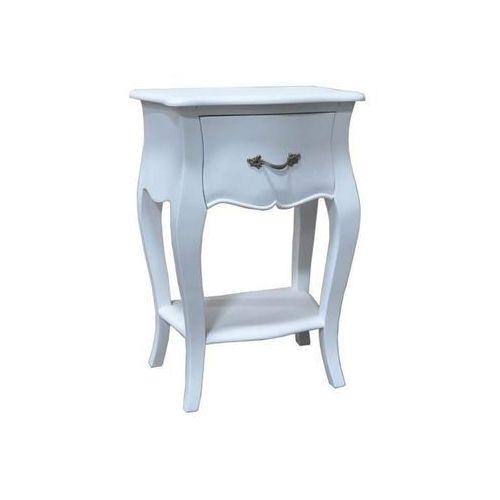 Dekoria stolik nocny louis white, 45 × 30 × 65 cm