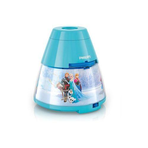 71769/08/16 - led lampa dziecięca frozen 1xled/0,1w + 3xled/0,3w/3xaa projektor marki Philips