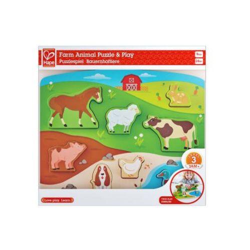puzzle-układanka, zwierzątka gospodarstwa rolnego marki Hape