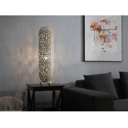 Beliani Lampa stojąca kremowo-złota mures (4260586353105)