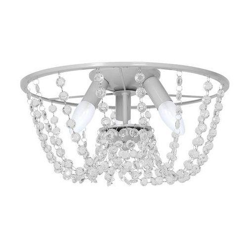Luminex Plafon lampa oprawa sufitowa milagro laura 3x60w e14 szary 1143 (5907565997668)