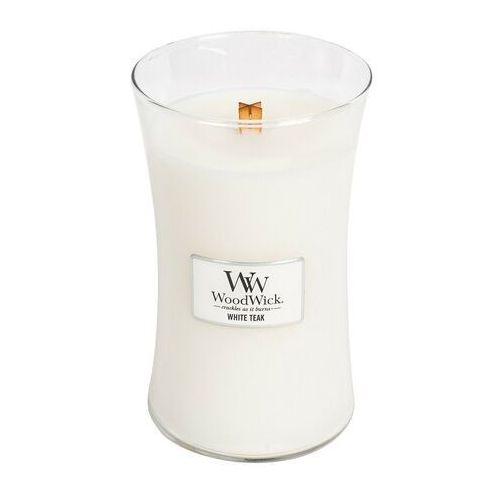Świeca Core WoodWick White Teak duża