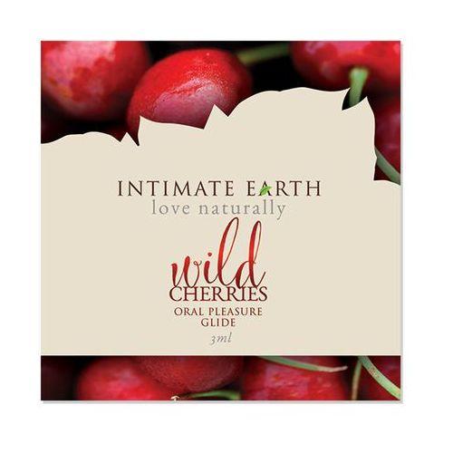 Intimate organics Próbka 3ml - smakowy żel nawilżający -  wild cherries lube czereśnie
