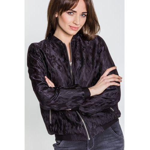 Czarna kurtka z żakardu - EMOI