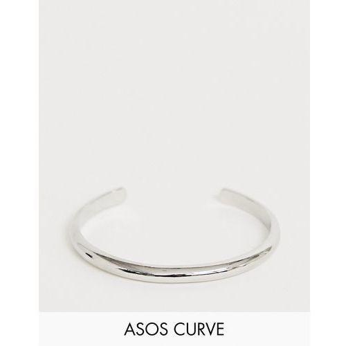 Asos design curve cuff bracelet in sleek minimal design in silver - silver marki Asos curve