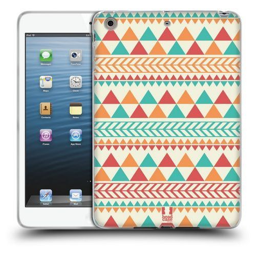 Etui silikonowe na tablet - Aztec Patterns LIGHT RED AND ORANGE, kolor pomarańczowy
