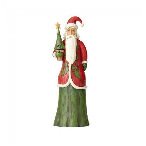 Jim shore Mikołaj z choinką w stylu folk folklore tall santa with tree 4058764 figurka ozdoba świąteczna