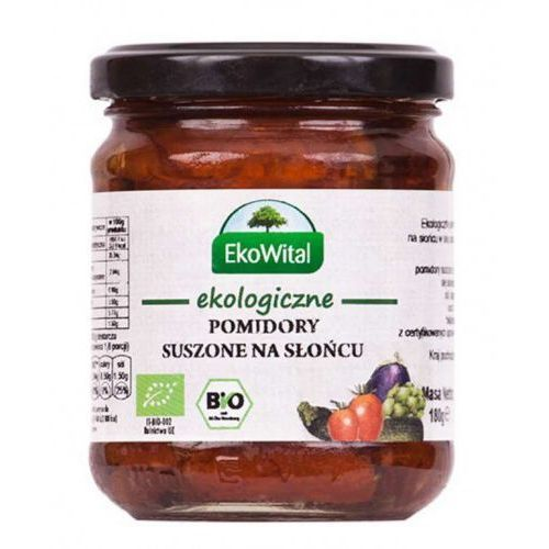 Eko wital Pomidory suszone na słońcu w oleju bio 180g