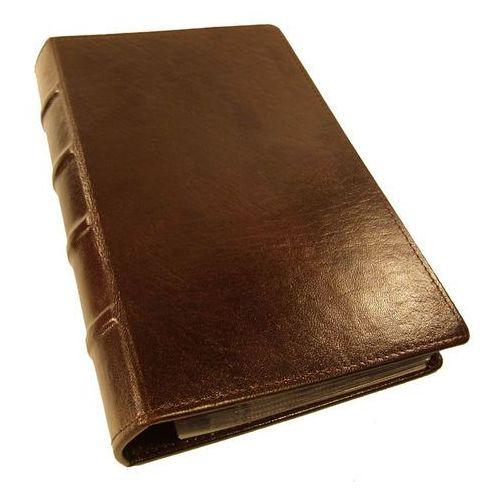 WIZYTOWNIK na 400 WIZYTÓWEK KW-46/400S RETRO wykonany ze skóry naturalnej - wyrób wzorowany na starych księgach - kolekcja VIP TOMI GINALDI