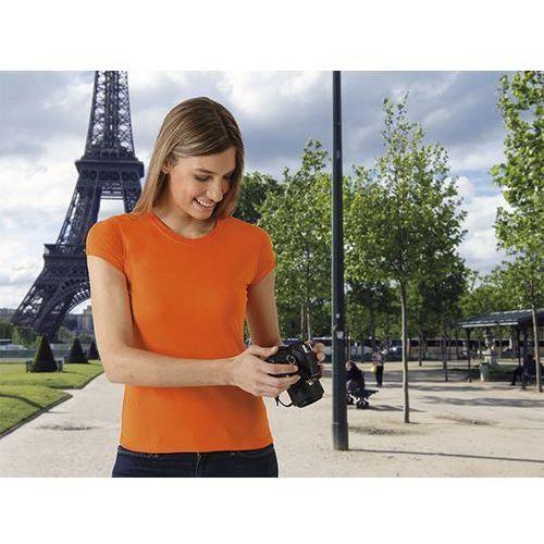 T-shirt koszulka damska krótki rękaw 100% bawełna Paris Valento S pomaranczowy, kolor pomarańczowy