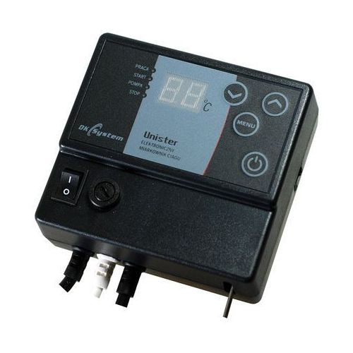 Elektroniczny regulator ciągu kominowego, miarkownik powietrza unister marki Dk system