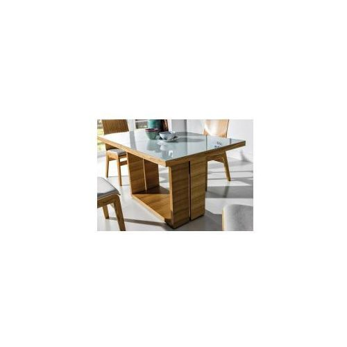 Stół madera glass white/black 85x140/190 marki Nova meble
