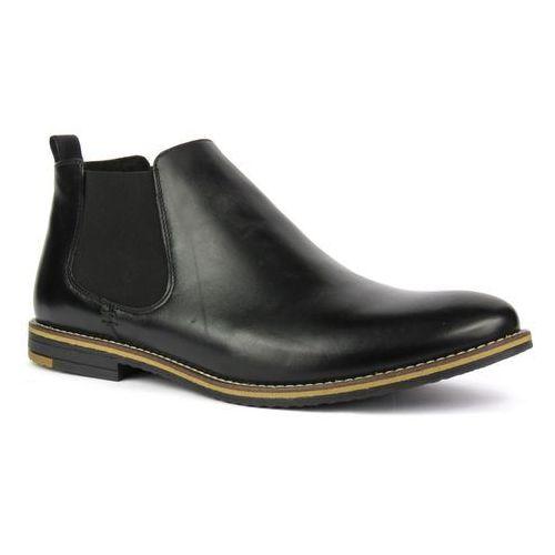 Półbuty męskie wizytowe Conhpol 4890 - czarny, kolor czarny