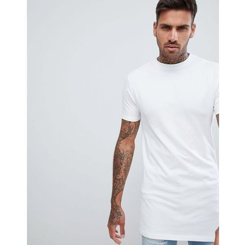 River Island longline muscle fit crew neck t-shirt in white - White, w 5 rozmiarach