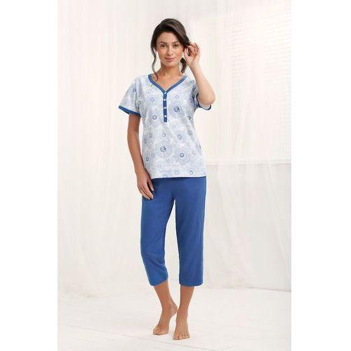 Piżama Luna 572 kr/r M-2XL L, szary-niebieski. Luna, 2XL, L, M, XL, kolor szary