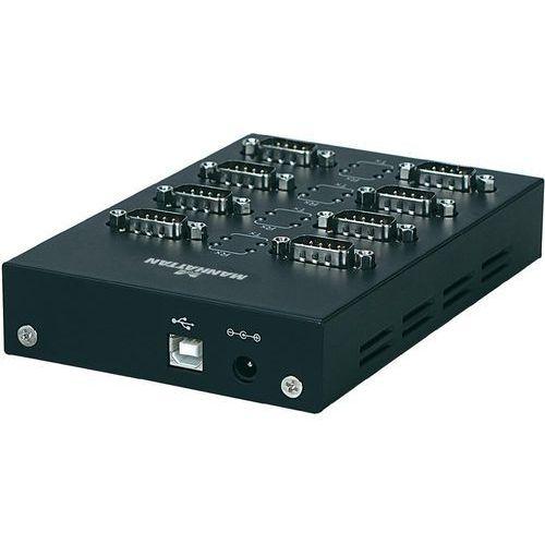 Przejściówka, adapter USB 2.0 Manhattan 151054, [8x Złącze męskie D-SUB 9-pin - 1x Złącze żeńskie USB 2.0 B] - produkt z kategorii- Akcesoria do TV