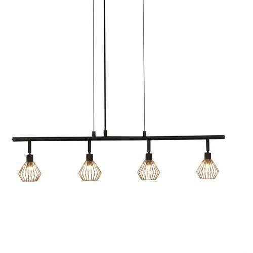DALMA - Lampa wisząca 4-punktowa Obrotowa Czarny/Miedź Dł.75,5cm, 21074/76
