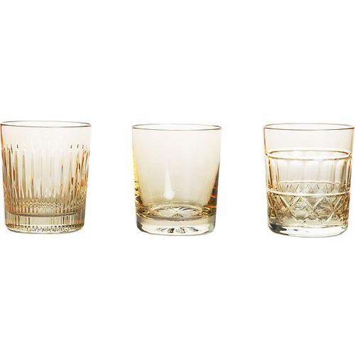 Szklanki do whisky veranda 3 szt. złote marki Huta julia