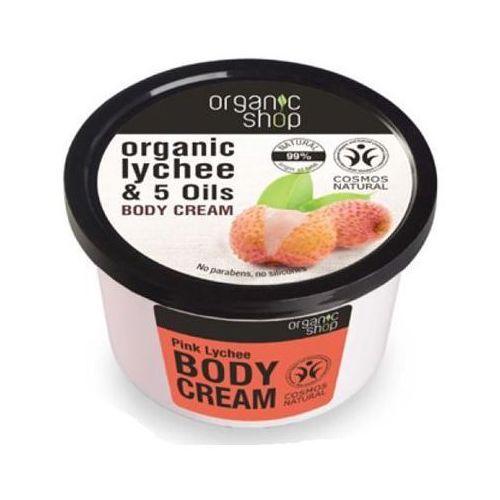 Organic Shop, krem do ciała, cera sucha i wrażliwa, Różowy Lychee, 250 ml