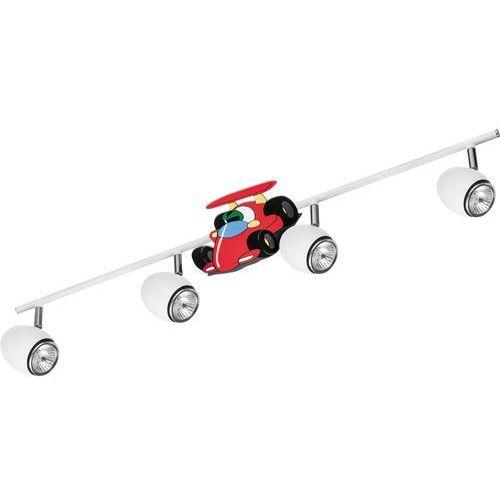 Lampa dla dziecka Samochód wyścigówka - Car biały/ chrom LED GU10 4x4,5W (5902166900864)