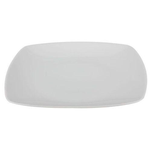 Ćmielów / akcent Chodzież biały akcent talerz płytki 25.5 cm biały bez zdobień 0001