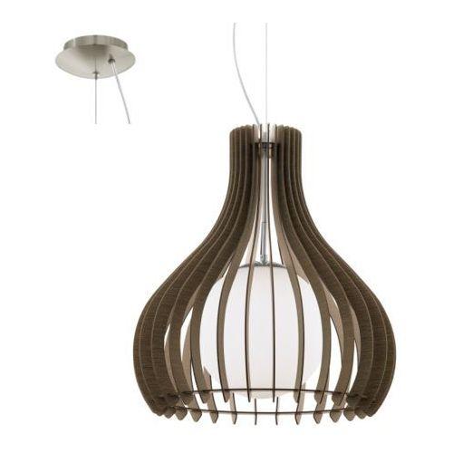 Eglo Lampa wisząca tindori średnia brązowa, 96217