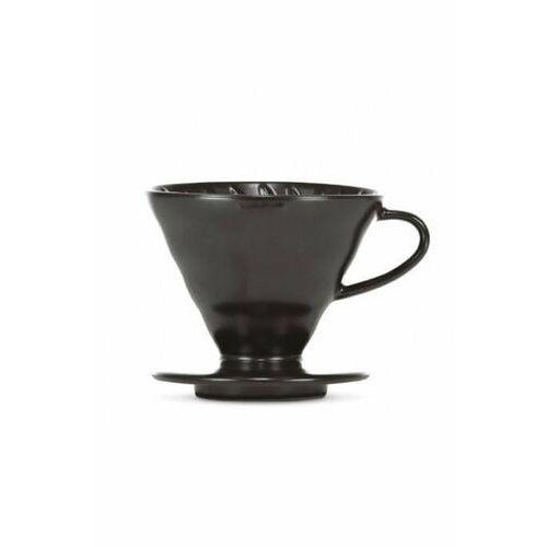 Hario Ceramiczny dripper v60-02 czarny matowy+ 40 szt. filtrów