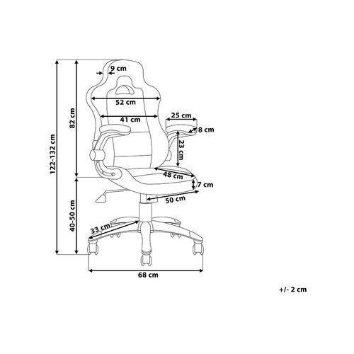 OKAZJA - Krzesło biurowe czarno-niebieskie regulowana wysokość master marki Beliani