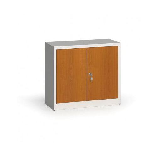 Szafy spawane z laminowanymi drzwiami, 800 x 920 x 400 mm, ral 7035/czereśnia marki Alfa 3