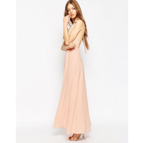 halter neck maxi dress - pink marki Asos