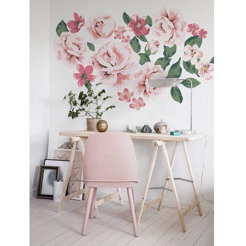 Coloray.pl Naklejki na ścianę róże w stylu vintage