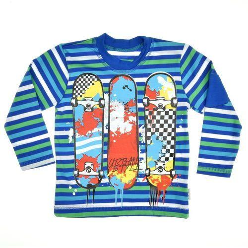 Bluzka w paski Chrisma - Kolorowy ||Granatowy