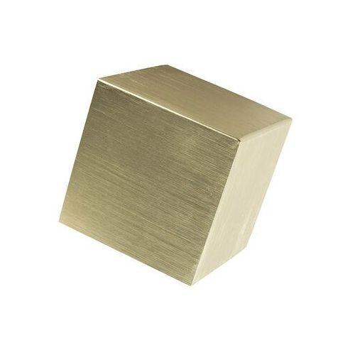 Nowoczesna lampa ścienna złota - cube marki Qazqa
