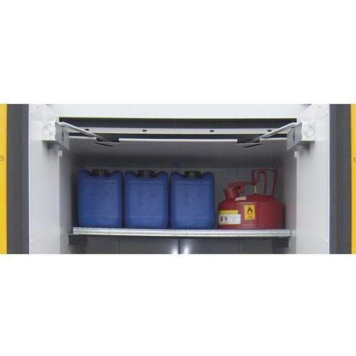 Półka wkładana z rusztu kratowego do szafy na beczki, szer. x głęb. 900x900 mm, marki Lacont umwelttechnik
