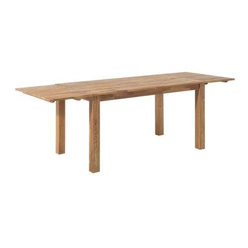 Stół do jadalni drewno jasnobrązowy 180 x 85 cm 2 przedłużki MAXIMA