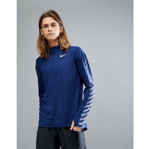 flash element reflective half zip sweat in blue 859199-429 - blue marki Nike running