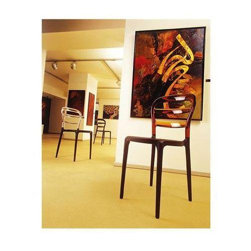Krzesło miss bibi - czarny ||pomarańczowy marki Resol