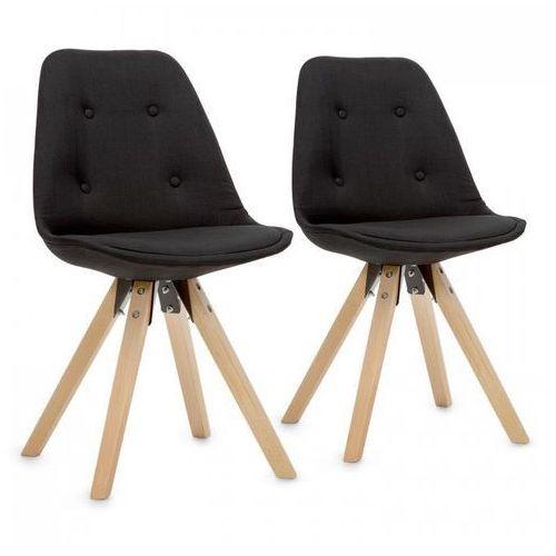 iseo krzesło kubełkowe 2 szt. tapicerowane siedzisko pp drewno brzozowe czarne marki Oneconcept