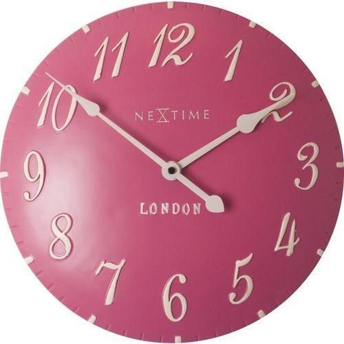 - zegar ścienny london arabic - różowy marki Nextime