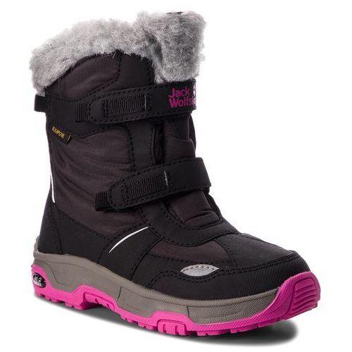 Śniegowce JACK WOLFSKIN - Girls Snow Flake Texapore 4012013 Black M, kolor czarny