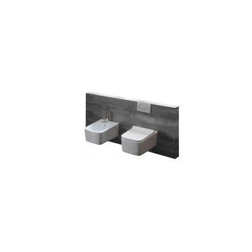 Rea Zestaw rico rimless slim miska wc z deską wolnoopadającą + bidet