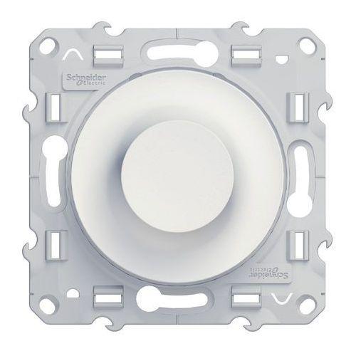 Schneider Ściemniacz obrotowy z funkcją łącznika schodowego odace s520511 biały (3606480300486)