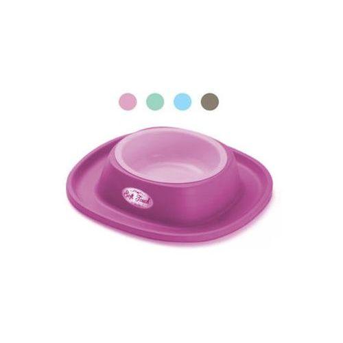 Yarro  miska na gumowej podstawie 20x3,5cm 170ml różowa