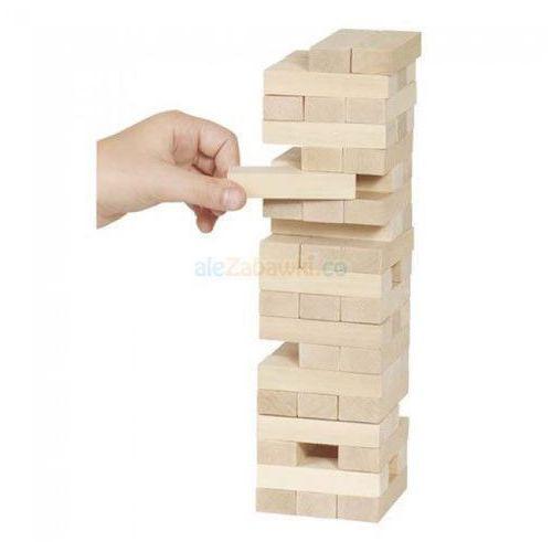 Goki Drewniana wieża do układania duża, gra zręcznościowa, hs 530